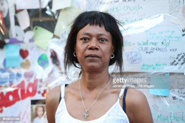 Jacqui Haynes outside at the Latymer Community Church near Grenfell Tower where Sir Martin MooreBick met residents and survivors of the Grenfell...