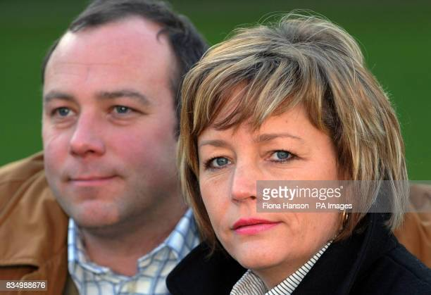 Jacqui Hoyland the wife of Jeremy Hoyland the British jet skier who went missing off Bali with her brother inlaw Nicolas Hoyland in Grosvenor Square...