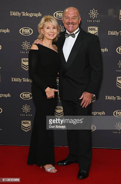 Jacqui Lewis and Wally Lewis arrive at the 2016 Dally M Awards at Star City on September 28 2016 in Sydney Australia