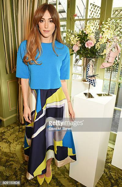Jacqui Ritchie attends the LKBennett x Bionda Castana lunch at Mark's Club on February 9 2016 in London England