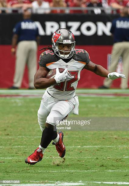 Jacquizz Rodgers of the Tampa Bay Buccaneers runs with the ball against the Arizona Cardinals at University of Phoenix Stadium on September 18 2016...