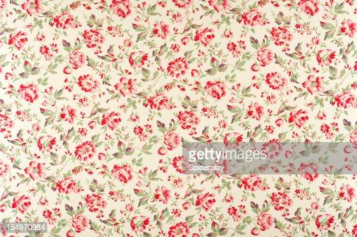 Jacquline Floral Antique Fabric