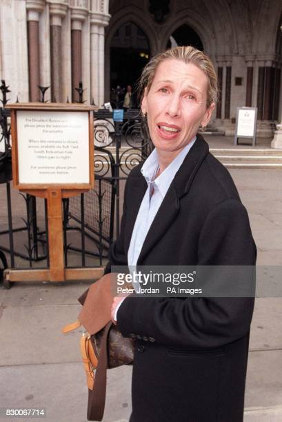 Jacqumin Samuelson outside London's High Court this afternoon where she is being sued by wealthy businessman Gary Grande for the return of 16 million...