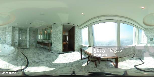 A jacuzzi is seen in a Royal Suite Room at the Hotel Lotte Co hotel inside the Lotte Corp World Tower building in Seoul South Korea on Thursday March...