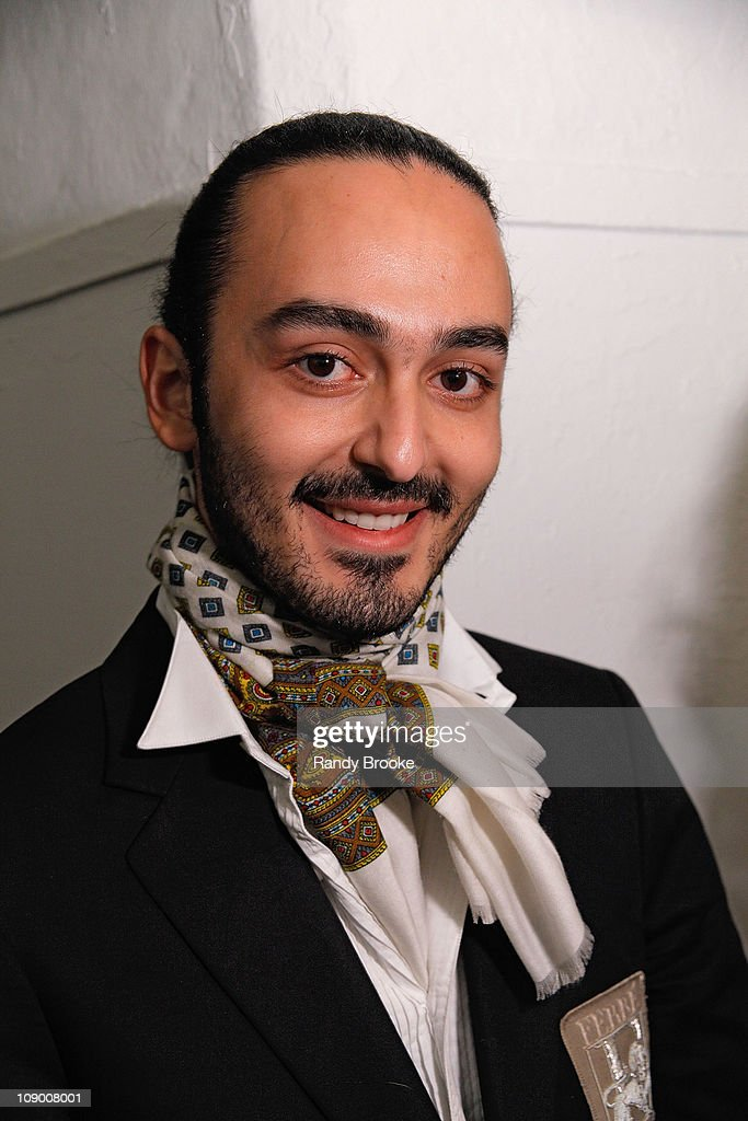 Jad Ghandour backstage at the Jad Ghandour Fall 2011 fashion show during Mercedes-Benz Fashion Week at Exit Art on February 10, 2011 in New York City.