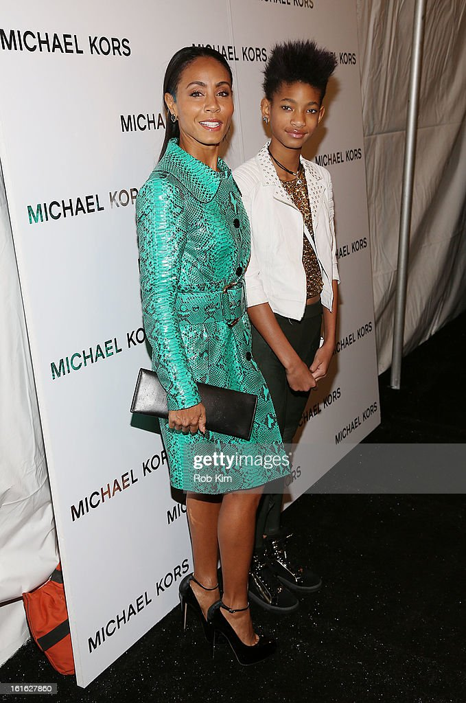 Jada Koren Pinkett Smith and daugher Willow Smith are seen during Fall 2013 Mercedes-Benz Fashion Week at Lincoln Center for the Performing Arts on February 13, 2013 in New York City.
