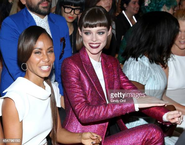 Jada Pinket Smith and Coco Rocha attend the Christian Siriano fashion show during MercedesBenz Fashion Week Spring 2015 at Eyebeam on September 6...