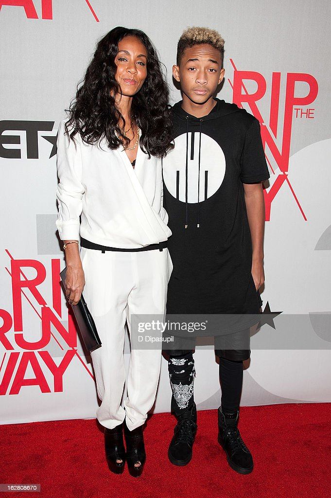 Jada Pinkett Smith (L) and Jaden Smith attend BET's Rip The Runway 2013 at Hammerstein Ballroom on February 27, 2013 in New York City.