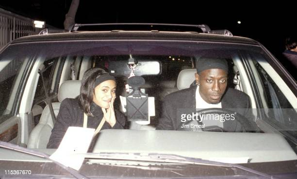 Jada Pinkett Smith and Wesley Snipes during Woody Harelson's 'Furthest From the Sun' Play Opening at Tiffany Theatre in West Hollywood California...