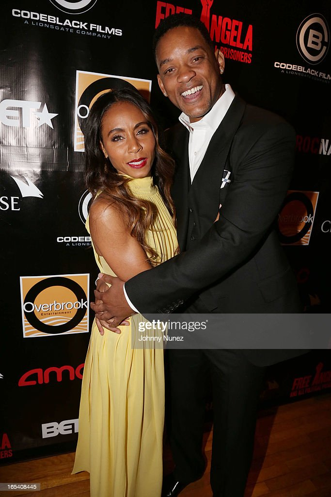 <a gi-track='captionPersonalityLinkClicked' href=/galleries/search?phrase=Jada+Pinkett+Smith&family=editorial&specificpeople=201837 ng-click='$event.stopPropagation()'>Jada Pinkett Smith</a> and <a gi-track='captionPersonalityLinkClicked' href=/galleries/search?phrase=Will+Smith+-+Actor+-+Born+1968&family=editorial&specificpeople=156403 ng-click='$event.stopPropagation()'>Will Smith</a> attend the 'Free Angela and All Political Prisoners' New York Premiere at The Schomburg Center for Research in Black Culture on April 3, 2013 in New York City.