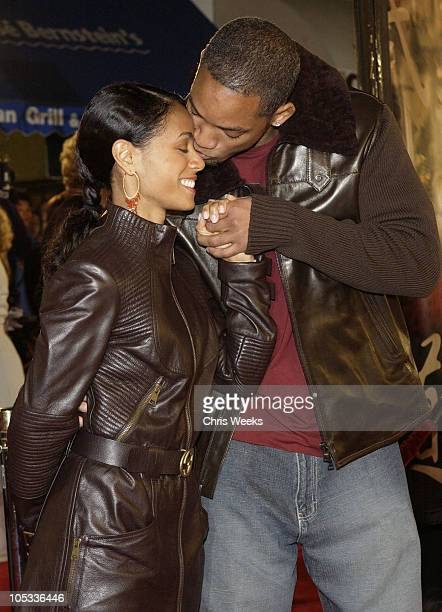 Jada Pinkett Smith and Will Smith during 'The Last Samurai' Los Angeles Premiere at Mann's Village Theater in Westwood California United States
