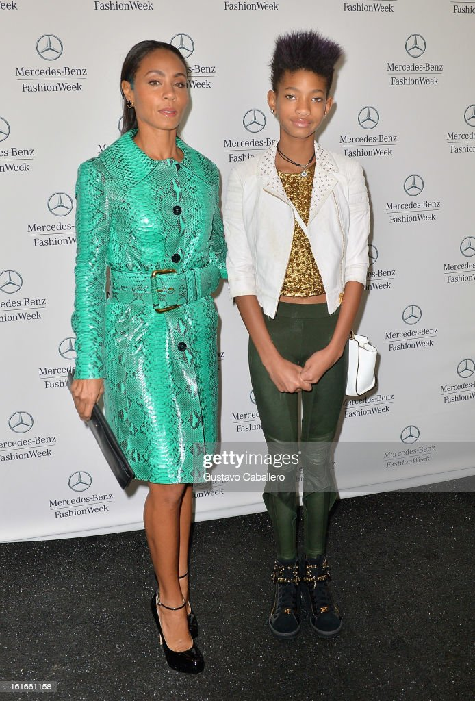 Jada Pinkett Smith and Willow Smith is seen around Lincoln Center - Day 7 - Fall 2013 Mercedes-Benz Fashion Week at Lincoln Center for the Performing Arts on February 13, 2013 in New York City.