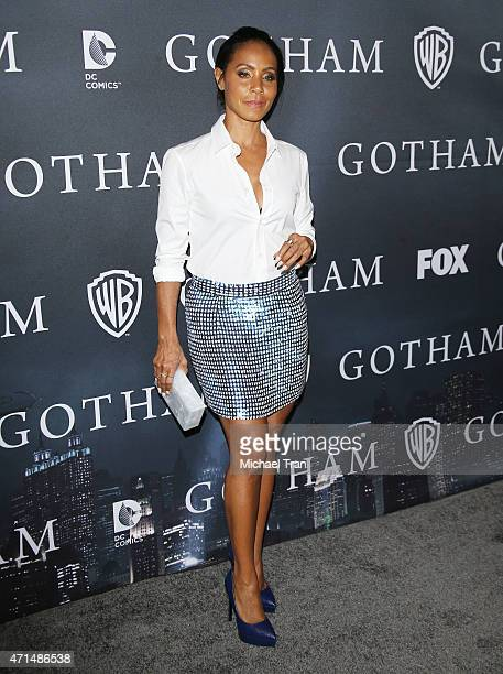 Jada Pinkett Smith arrives at Fox's 'Gotham' finale screening event held at Landmark Theatre on April 28 2015 in Los Angeles California