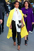 Jada Pinkett Smith arrives at the Chloe show as part of the Paris Fashion Week Womenswear Spring/Summer 2016 on October 1 2015 in Paris France