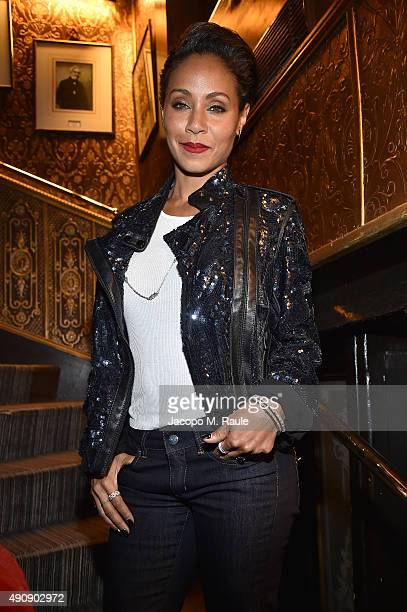 Jada Pinkett Smith attends Balmain aftershow party as part of Paris Fashion Week Womenswear Spring/Summer 2016 at Laperouse on October 1 2015 in...