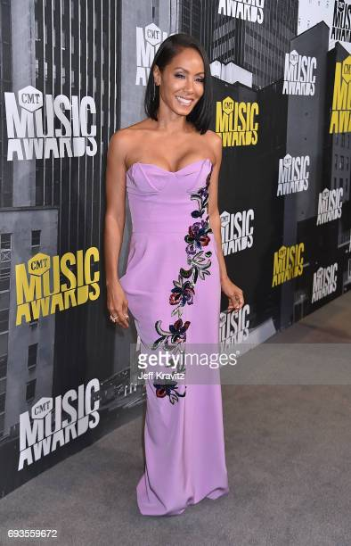 Jada Pinkett Smith attends the 2017 CMT Music Awards at the Music City Center on June 7 2017 in Nashville Tennessee
