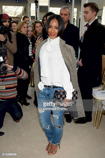 Jada Pinkett Smith attends the Chanel show as part of the Paris Fashion Week Womenswear Fall/Winter 2016/2017 on March 8 2016 in Paris France
