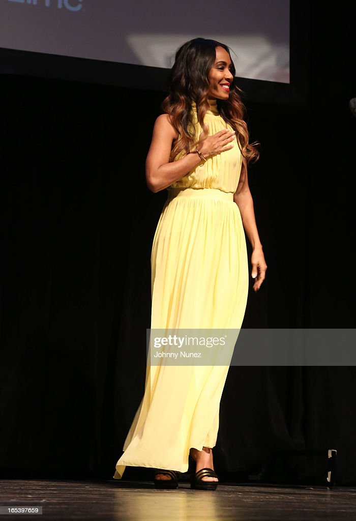 Jada Pinkett Smith attends the 'Free Angela and All Political Prisoners' New York Premiere at The Schomburg Center for Research in Black Culture on April 3, 2013 in New York City.