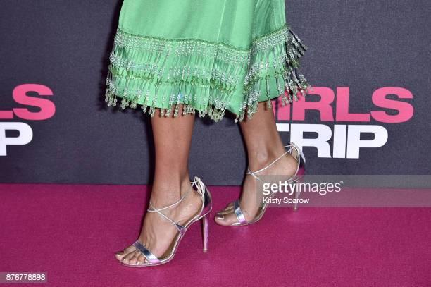 Jada Pinkett Smith attends the Girls Trip Paris Premiere at UGC Cine Cite Bercy on November 20 2017 in Paris France