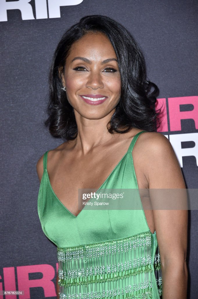 Jada Pinkett Smith attends the Girls Trip Paris Premiere at UGC Cine Cite Bercy on November 20, 2017 in Paris, France.