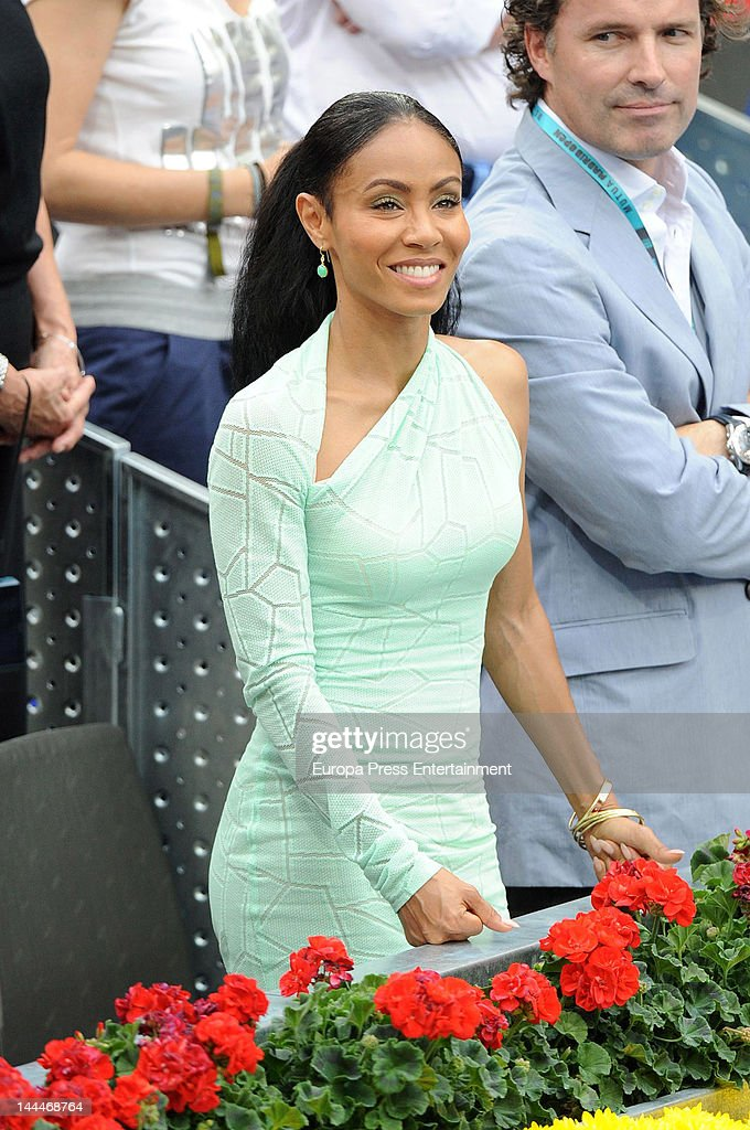 Jada Pinkett Smith attends the Mutua Madrilena Madrid Open on May 13, 2012 in Madrid, Spain.
