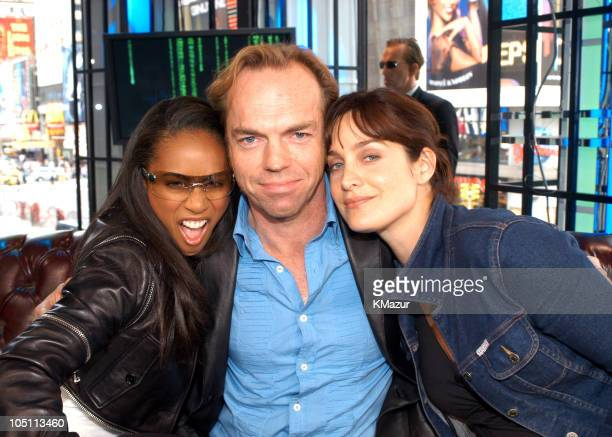 Jada Pinkett Smith Hugo Weaving and CarrieAnne Moss