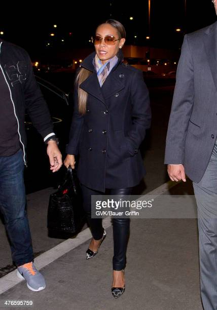 Jada Pinkett Smith is seen at LAX airport on March 03 2014 in Los Angeles California