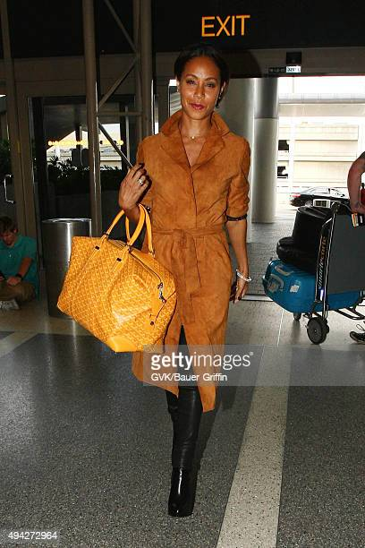 Jada Pinkett Smith is seen at LAX on October 25 2015 in Los Angeles California
