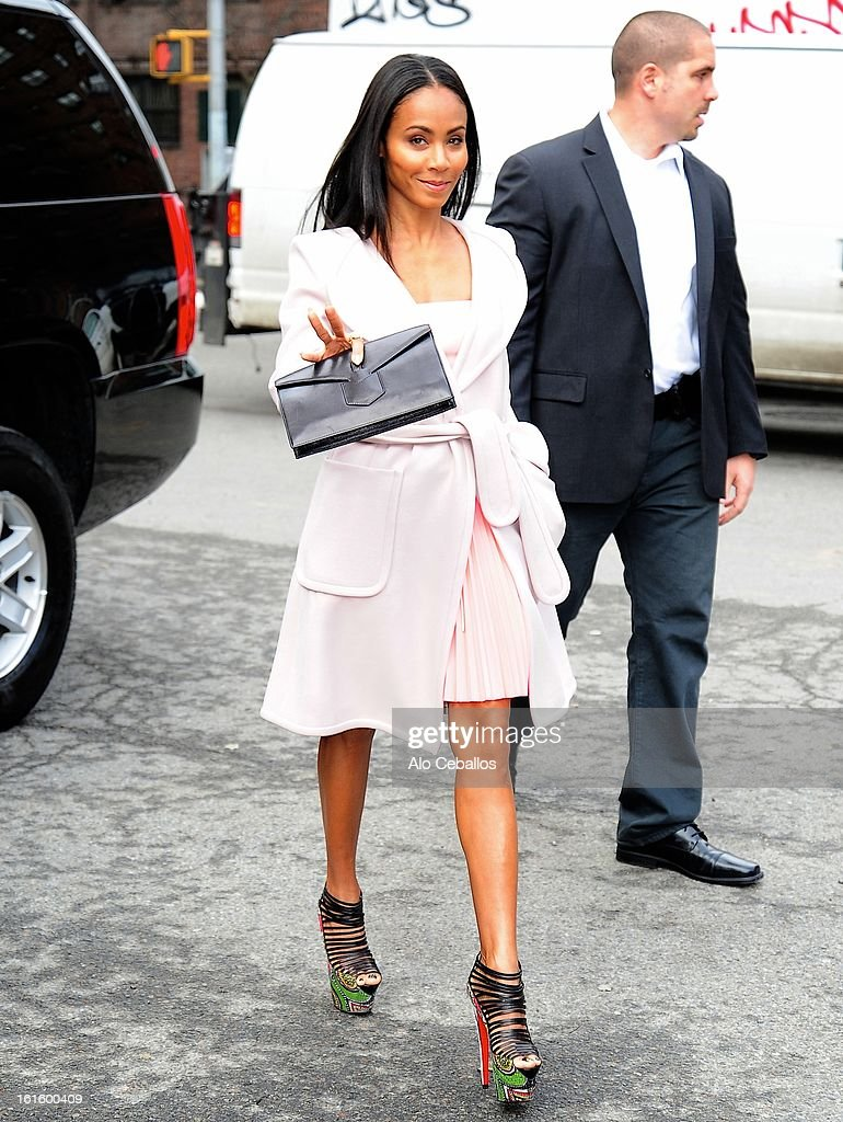 Jada Pinkett Smith is seen on February 12, 2013 in New York City.