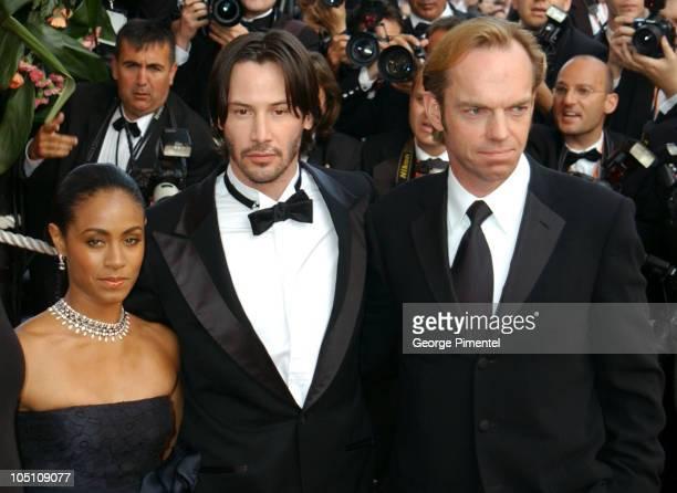 Jada Pinkett Smith Keanu Reeves and Hugo Weaving