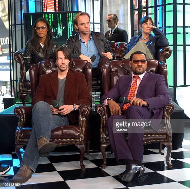Jada Pinkett Smith Keanu Reeves Hugo Weaving CarrieAnne Moss and Laurence Fishburne
