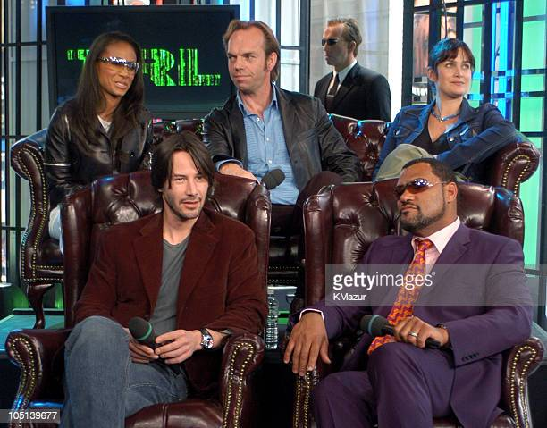 Jada Pinkett Smith Keanu Reeves Hugo Weaving CarrieAnne Moss and Laurence Fishburne
