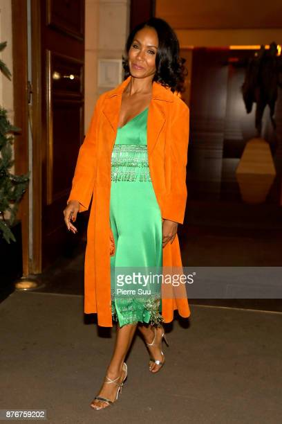 Jada Pinkett Smith leaves her hotel on November 20 2017 in Paris France