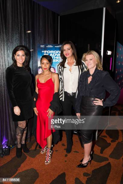 Jada Pinkett Smith meets Victoria Rees Krissy Marsh and Nicole O'Neill ahead of a VIP screening of GIRLS TRIP at Event Cinemas George Street on...