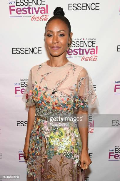 Jada Pinkett Smith poses backstage the 2017 ESSENCE Festival presented by CocaCola at Ernest N Morial Convention Center on June 30 2017 in New...