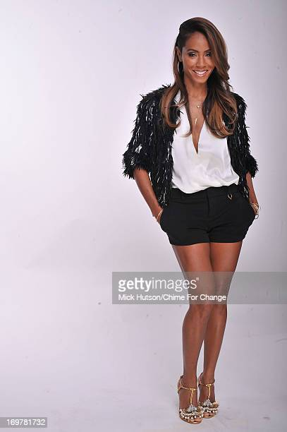 Jada Pinkett Smith poses for a portrait backstage at the 'Chime For Change The Sound Of Change Live' Concert at Twickenham Stadium on June 1 2013 in...