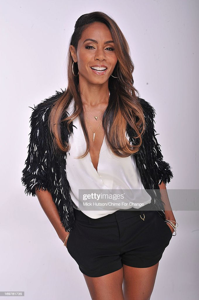 <a gi-track='captionPersonalityLinkClicked' href=/galleries/search?phrase=Jada+Pinkett+Smith&family=editorial&specificpeople=201837 ng-click='$event.stopPropagation()'>Jada Pinkett Smith</a> poses for a portrait backstage at the 'Chime For Change: The Sound Of Change Live' Concert at Twickenham Stadium on June 1, 2013 in London, England. Chime For Change is a global campaign for girls' and women's empowerment founded by Gucci with a founding committee comprised of Gucci Creative Director Frida Giannini, Salma Hayek Pinault and Beyonce Knowles-Carter.