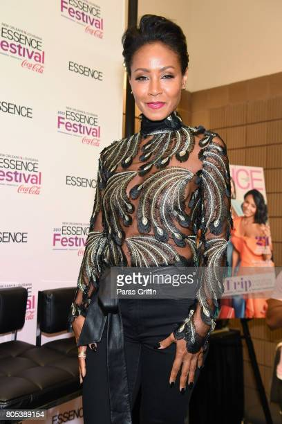 Jada Pinkett Smith poses in the press room at the 2017 ESSENCE Festival presented by CocaCola at Ernest N Morial Convention Center on July 1 2017 in...
