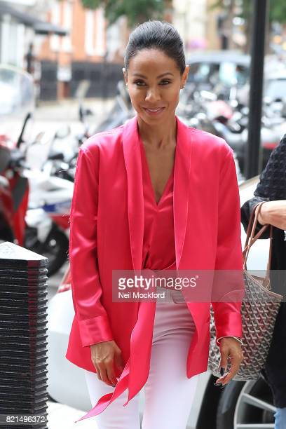 Jada Pinkett Smith seen at BBC Radio One promoting new movie 'Girls Trip' on July 24 2017 in London England