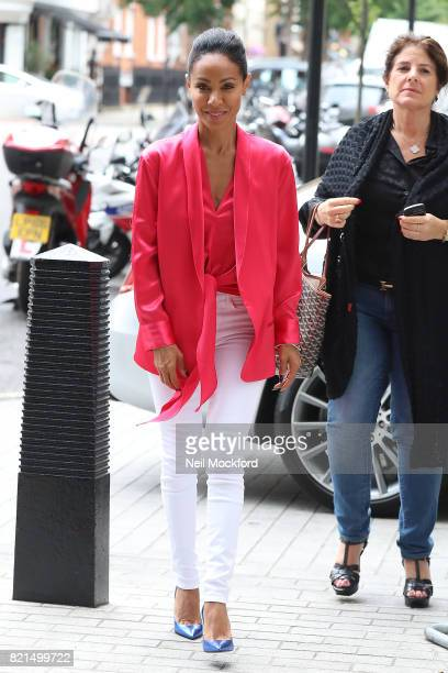 Jada Pinkett Smith seen at BBC Radio One promoting new movie 'Girls Trip' on July 24 2017 in London England