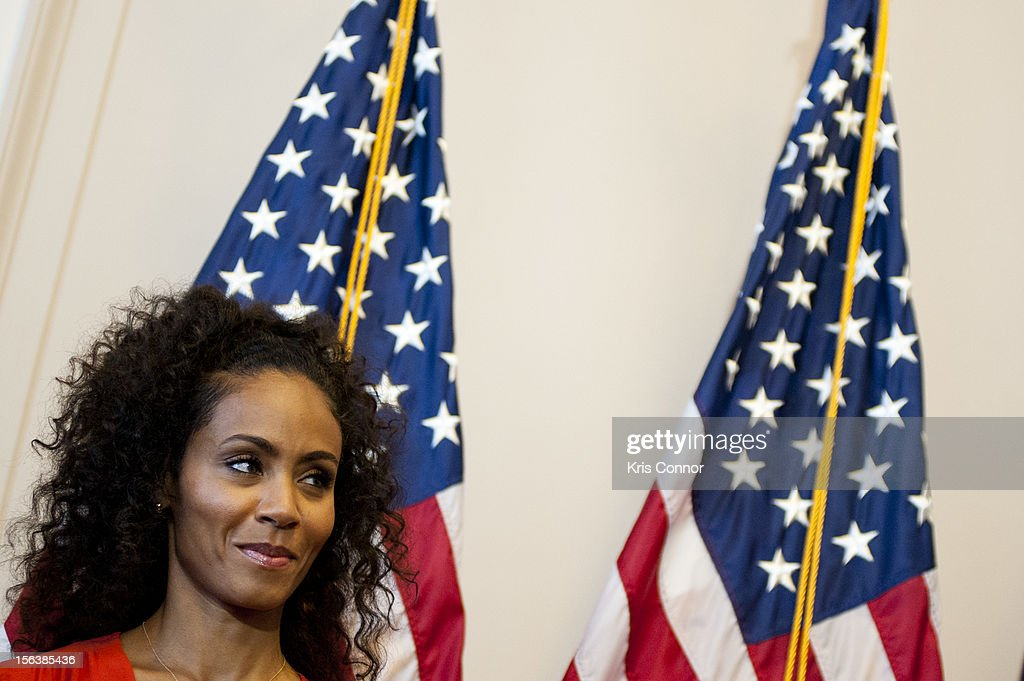 <a gi-track='captionPersonalityLinkClicked' href=/galleries/search?phrase=Jada+Pinkett+Smith&family=editorial&specificpeople=201837 ng-click='$event.stopPropagation()'>Jada Pinkett Smith</a> speaks during the launch of the Senate Caucus to End Human Trafficking at the Russell Senate Office Building on November 14, 2012 in Washington, DC.