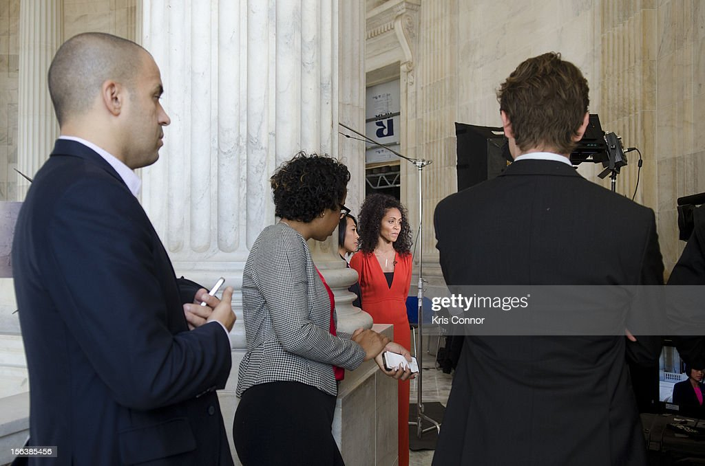 <a gi-track='captionPersonalityLinkClicked' href=/galleries/search?phrase=Jada+Pinkett+Smith&family=editorial&specificpeople=201837 ng-click='$event.stopPropagation()'>Jada Pinkett Smith</a> speaks with the press before the launch of the Senate Caucus to End Human Trafficking at the Russell Senate Office Building on November 14, 2012 in Washington, DC.