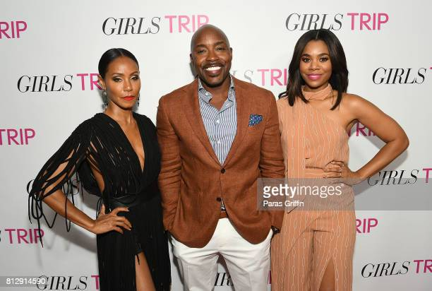 Jada Pinkett Smith Will Packer Regina Hall at 'Girls Trip' Atlanta special screening at SCADshow on July 11 2017 in Atlanta Georgia