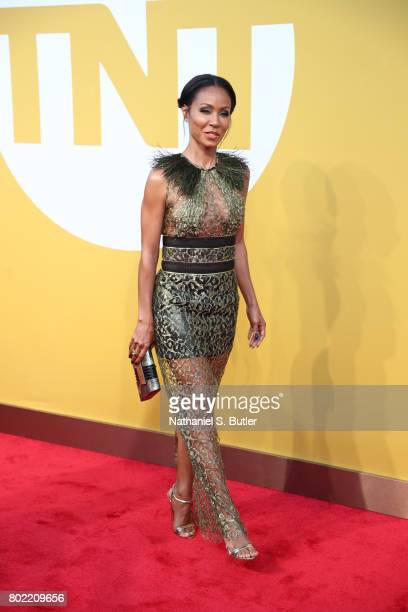 Jada PinkettSmith on the red carpet at the NBA Awards Show on June 26 2017 at Basketball City at Pier 36 in New York City New York NOTE TO USER User...