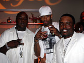Jadakiss Allen Iverson and Alex Thomas during 2005 BET Awards After Party at The Highlands in Hollywood California United States
