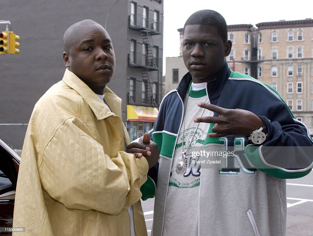 Jadakiss and BlackChild of the Inc during Jadakiss Video Shoot - May 5, 2004 at Harlem in New York City, New York, United States.