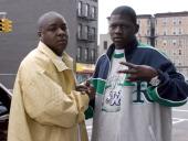 Jadakiss and BlackChild of the Inc during Jadakiss Video Shoot May 5 2004 at Harlem in New York City New York United States