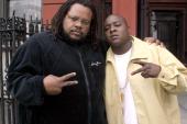 Jadakiss and Chris Robinson during Jadakiss Video Shoot May 5 2004 at Harlem in New York City New York United States