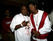 Jadakiss and Craig Mack during Jadakiss' 'Kiss Of Death' Album Release Party at Deep in New York City New York United States