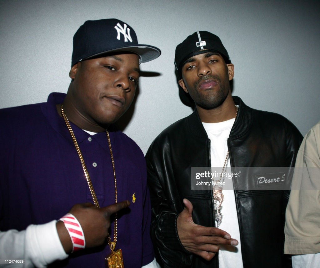 Jadakiss and DJ Clue during Carmelo Anthony's NBA AllStar Party Hosted by Nelly at Palladium in Denver Colorado United States